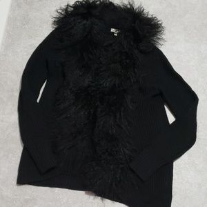 JOIE faux fur knit Cardigan